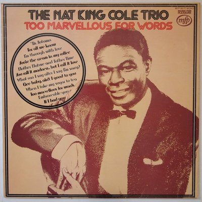 Nat King Cole Trio, The - Too marvellous for words - LP