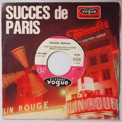 Jacques Dutronc - Il est cinq heures, Paris s'éveille - Single