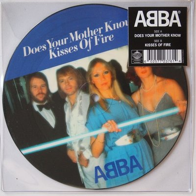 Abba - Does your mother know / Kisses of fire - Single