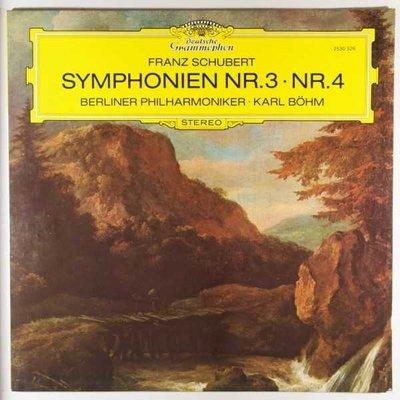 Berliner Philharmoniker - Karl Böhm - Schubert - Symphonien 3 & 4 - LP