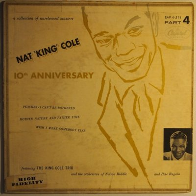 Nat 'King' Cole - 10th anniversary - EP