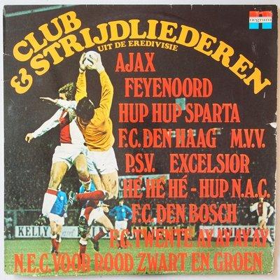 Various - 14 Elftal club en strijdliederen uit de eredivisie - LP