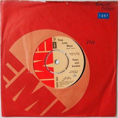 Peter & Gordon - True love ways - Single