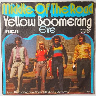 Middle Of The Road - Yellow boomerang - Single